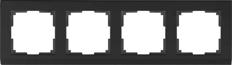 WL04-Frame-04-black/Рамка на 4 поста (черный)