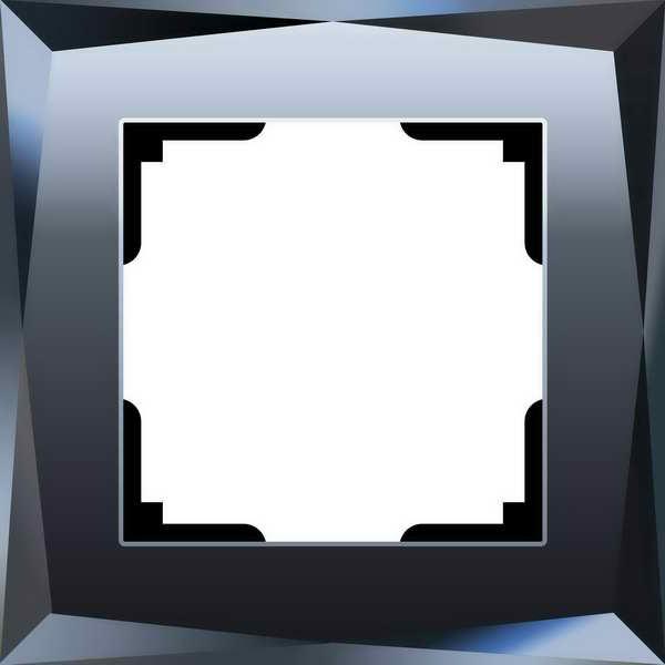 WL08-Frame-01/Рамка на 1 пост (черный)