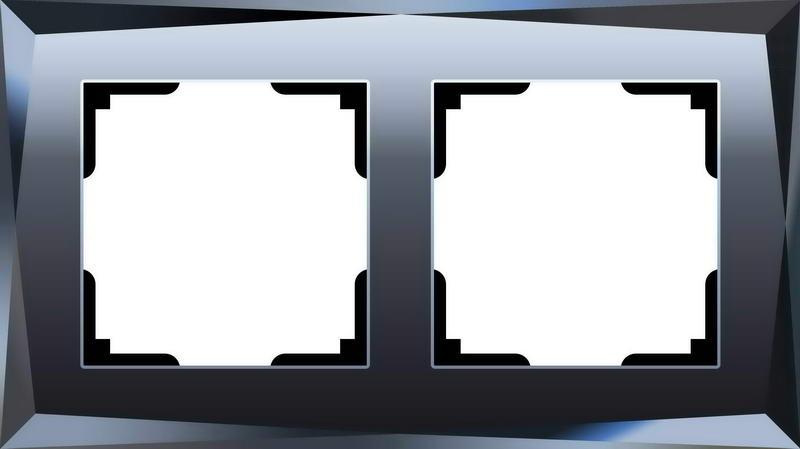 WL08-Frame-02/Рамка на 2 поста (чёрный)