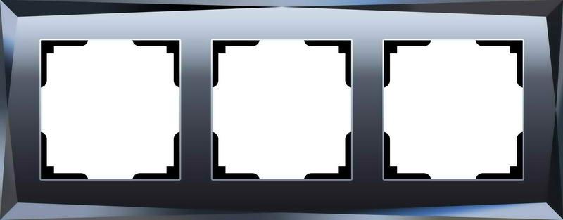 WL08-Frame-03/Рамка на 3 поста (чёрный)