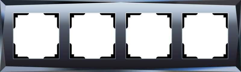 WL08-Frame-04/Рамка на 4 поста (чёрный)