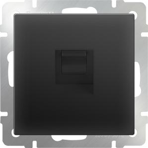 WERKEL WL08-RJ-45/ Розетка Ethernet RJ-45 (черный матовый)