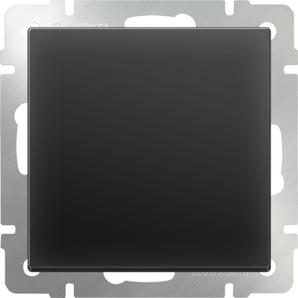 WERKEL WL08-SW-1G-2W/Выключатель одноклавишный проходной (черный матовый)