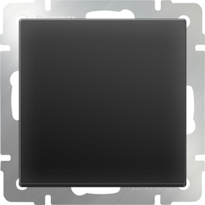 WERKEL WL08-SW-1G-C / Перекрестный переключатель одноклавишный (черный матовый)