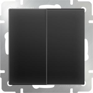 WERKEL WL08-SW-2G/Выключатель двухклавишный (черный матовый)