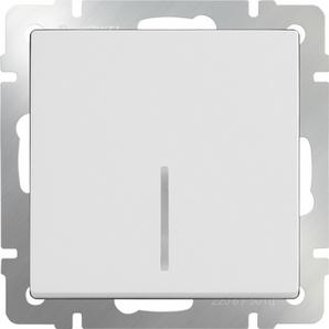 WERKEL WL01-SW-1G-LED / Выключатель одноклавишный с подсветкой(белый)