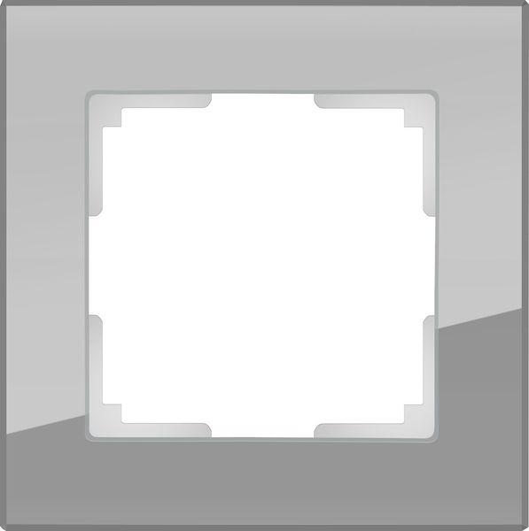 WL01-Frame-01/Рамка на 1 пост (серый,стекло)