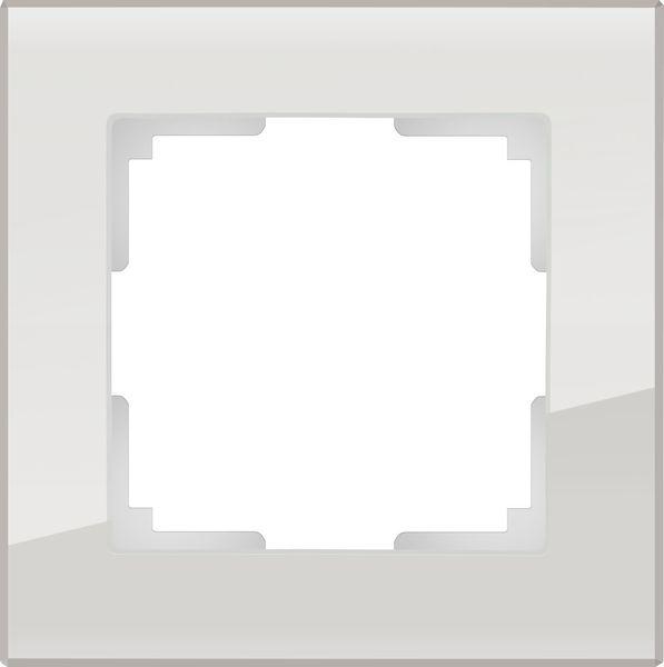 WL01-Frame-01/Рамка на 1 пост (дымчатый,стекло)