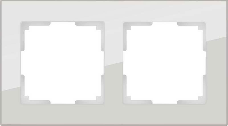 WL01-Frame-02/Рамка на 2 поста (дымчатый,стекло)