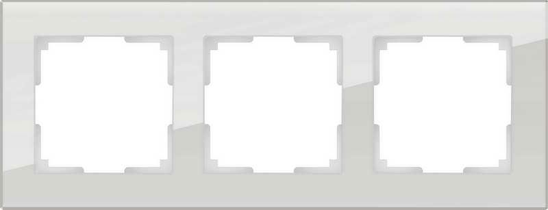 WL01-Frame-03/Рамка на 3 поста (серый,стекло)