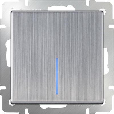 WERKEL WL02-SW-1G-LED / Выключатель одноклавишный с подсветкой (глянцевый никель)