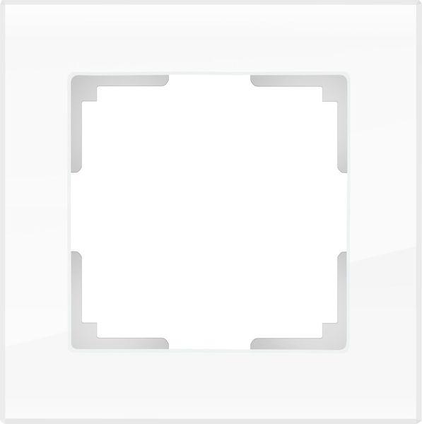 WL01-Frame-01/Рамка на 1 пост (белый,стекло)