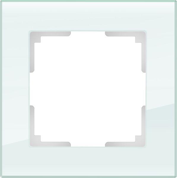 WL01-Frame-01/Рамка на 1 пост (натуральное стекло)