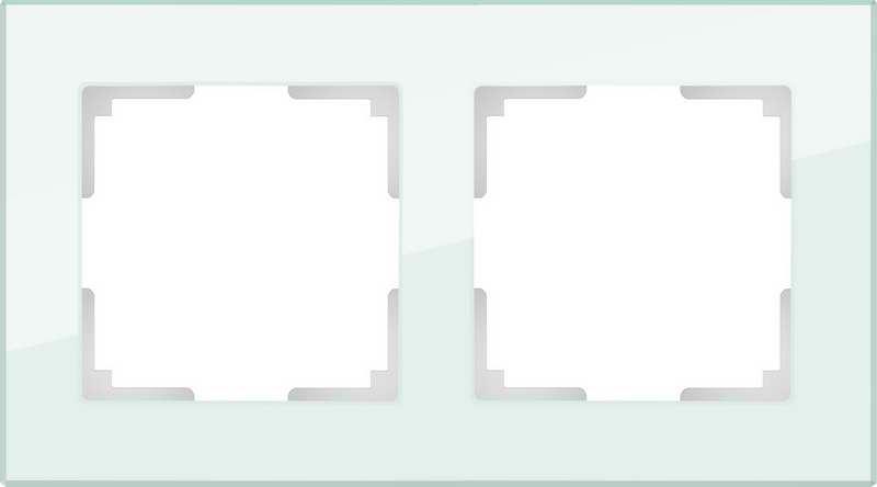 WL01-Frame-02/Рамка на 2 поста (натуральное стекло)