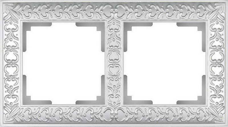 WL07-Frame-02/Рамка на 2 поста (жемчужный)