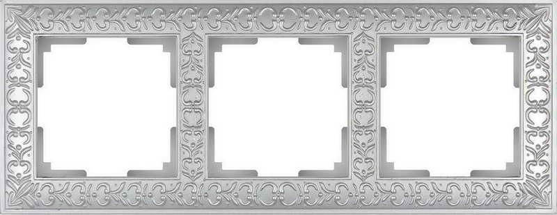WL07-Frame-03/Рамка на 3 поста (жемчужный)