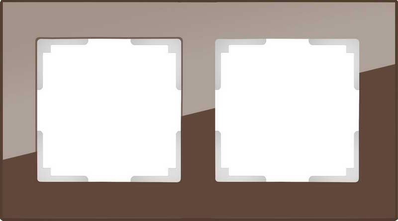 WL01-Frame-02/Рамка на 2 поста (мокко)