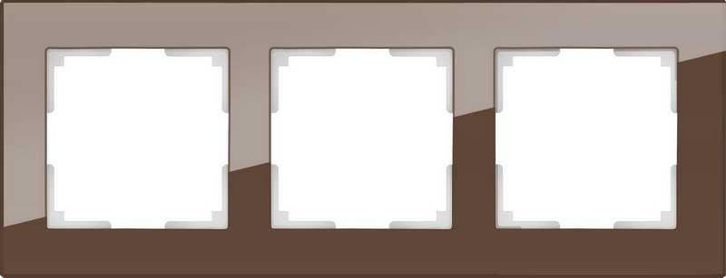 WL01-Frame-03/Рамка на 3 поста (мокко)