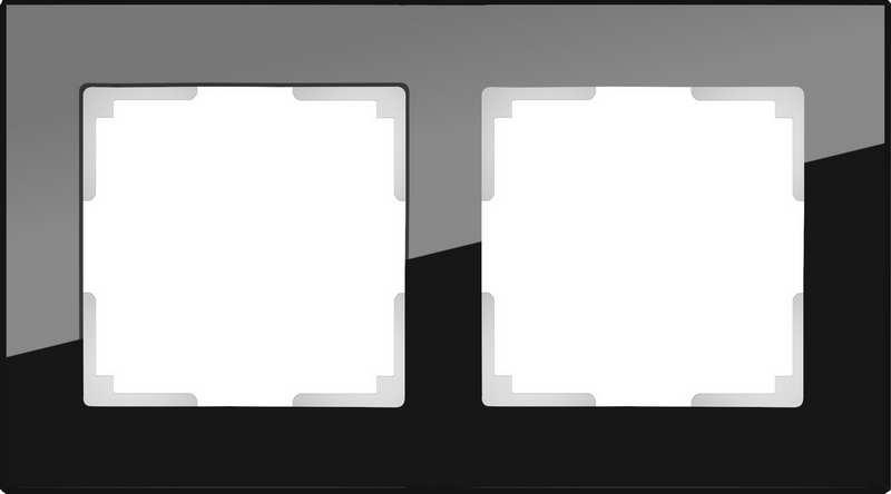 WL01-Frame-02/Рамка на 2 поста (черный)