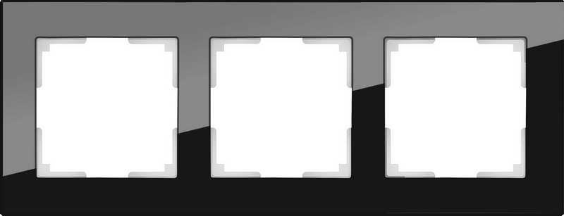 WL01-Frame-01/Рамка на 3 поста (черный)