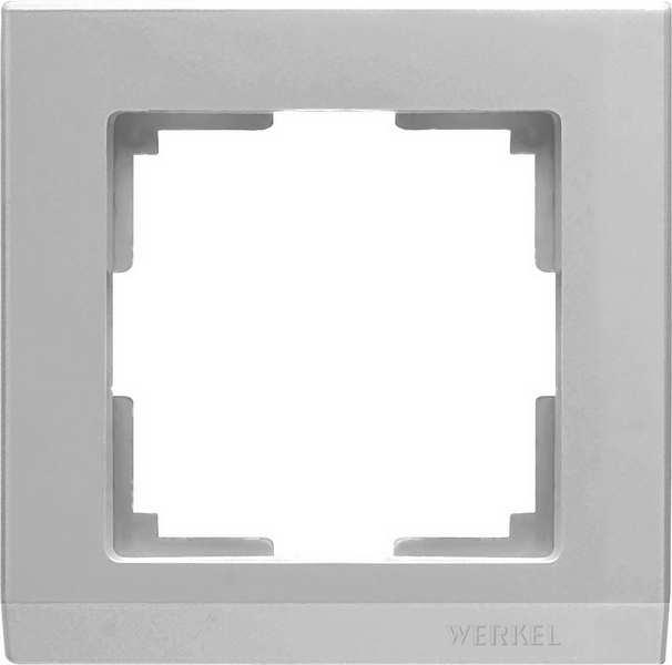 WL04-Frame-01-silver/Рамка на 1 пост (серебряный)