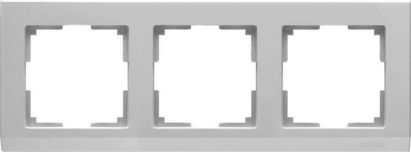 WL04-Frame-03-silver/Рамка на 3 поста (серебряный)