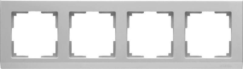 WL04-Frame-04-silver/Рамка на 4 поста (серебряный)