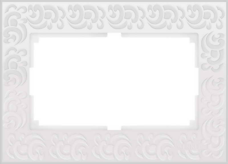WL05-Frame-01-DBL-white/Рамка для двойной розетки (белый)