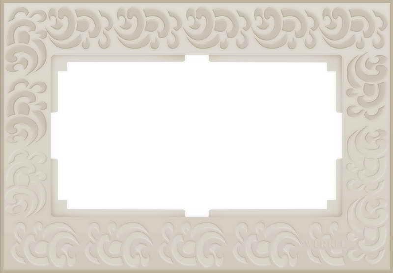 WL05-Frame-01-DBL-IVORY/Рамка для двойной розетки (слоновая кость)