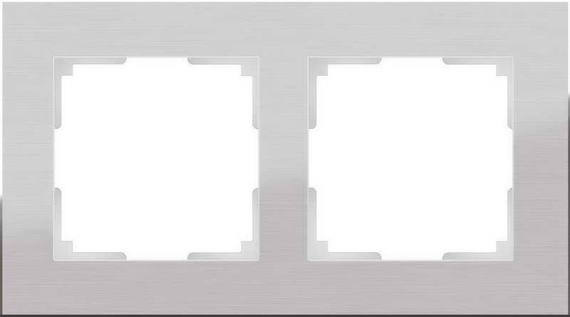 WL11-Frame-02/Рамка на 2 поста (алюминий)
