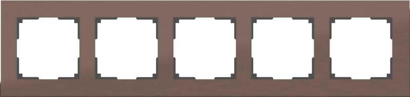WL11-Frame-05/Рамка на 5 постов (коричневый алюминий)