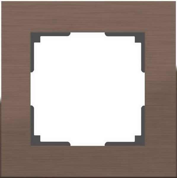 WL11-Frame-01/Рамка на 1 пост (коричневый алюминий)