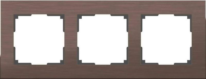 WL11-Frame-03/Рамка на 3 поста (коричневый алюминий)