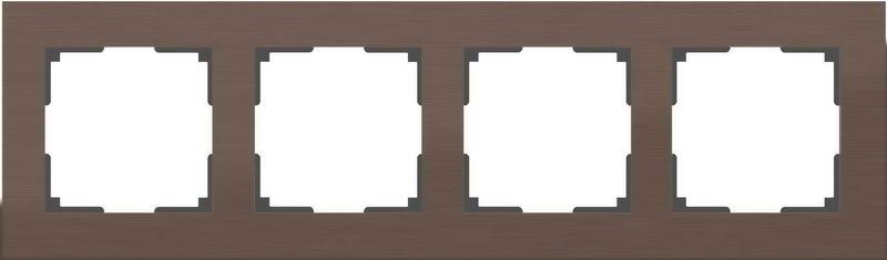 WL11-Frame-04/Рамка на 4 поста (коричневый алюминий)