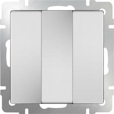 WERKEL Белый Выключатель трехклавишный (белый) / WL01-SW-3G