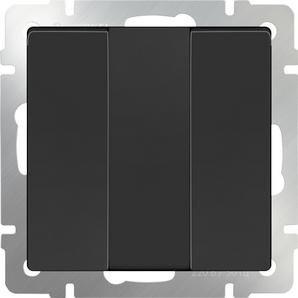 WERKEL Черный Выключатель трехклавишный/WL08-SW-3G (черный матовый)