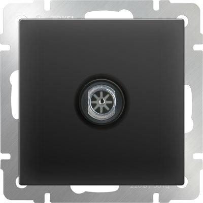 WERKEL WL08-TV-2W/ ТВ-розетка проходная(черный матовый)