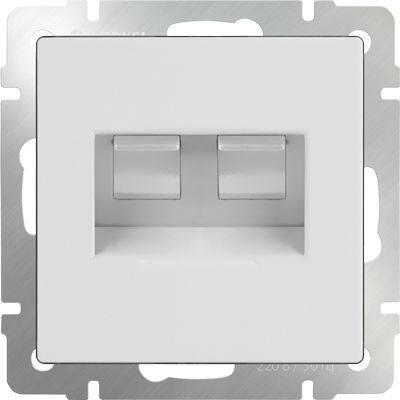 WERKEL WL01-RJ45+RJ45 / Розетка двойная Ethernet RJ-45 (белая)