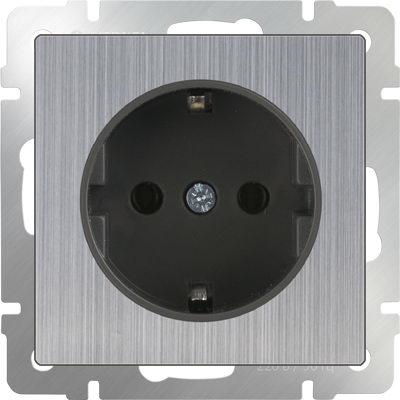 WERKEL WL02-SKG-01-IP20 / Розетка с заземлением (глянцевый никель)