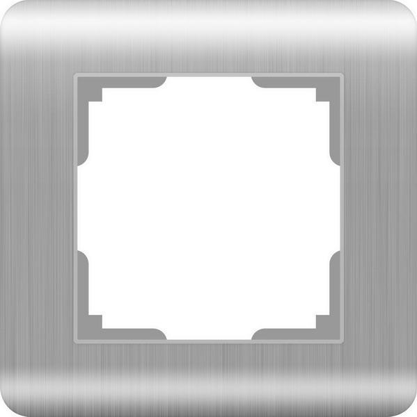 WERKEL Рамка на 1 пост (серебряный) / WL12-Frame-01