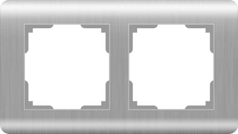 WERKEL Рамка на 2 поста(серебряный) / WL12-Frame-02