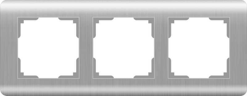 WERKEL Рамка на 3 поста(серебряный) / WL12-Frame-03