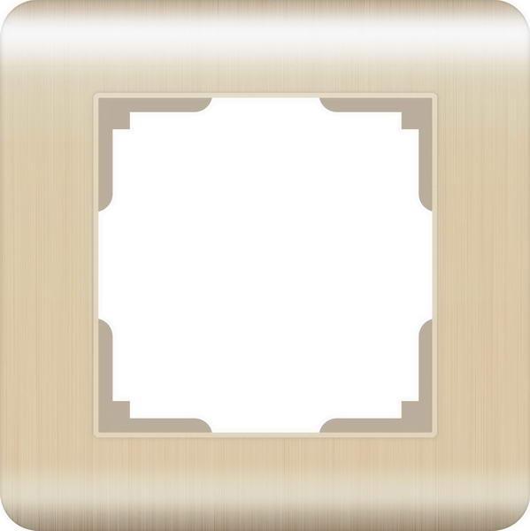 WERKEL Рамка на 1 пост (шампань) / WL12-Frame-01