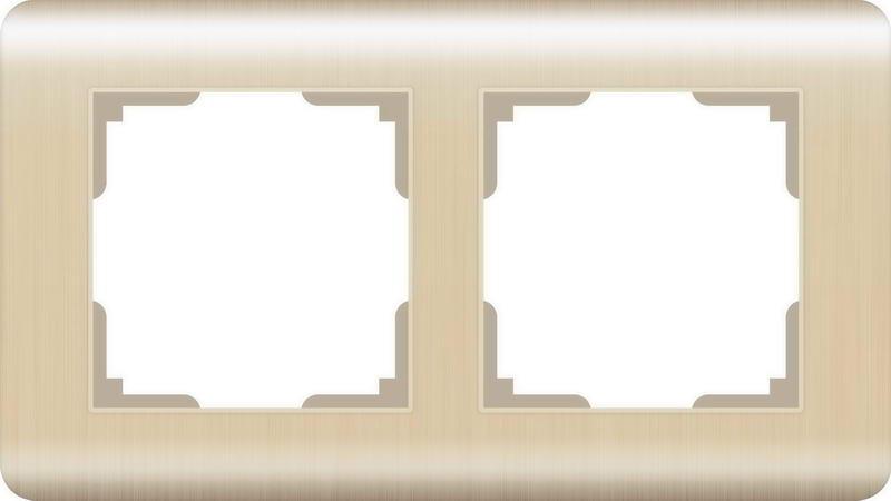 WERKEL Рамка на 2 поста(шампань) / WL12-Frame-02