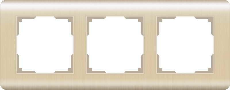 WERKEL Рамка на 3 поста(шампань) / WL12-Frame-03