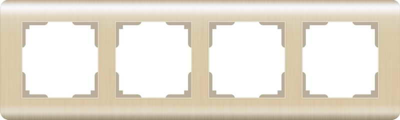 WERKEL Рамка на 4 поста(шампань) / WL12-Frame-04