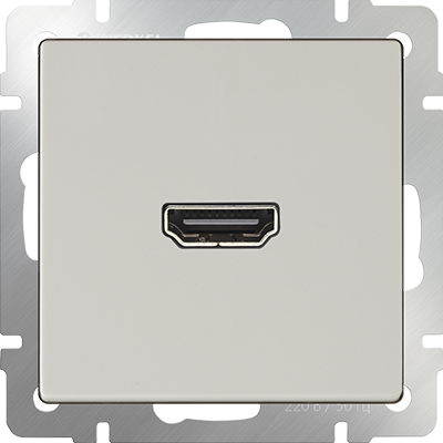 WERKEL Розетка HDMI/ WL01-60-11 (белый)
