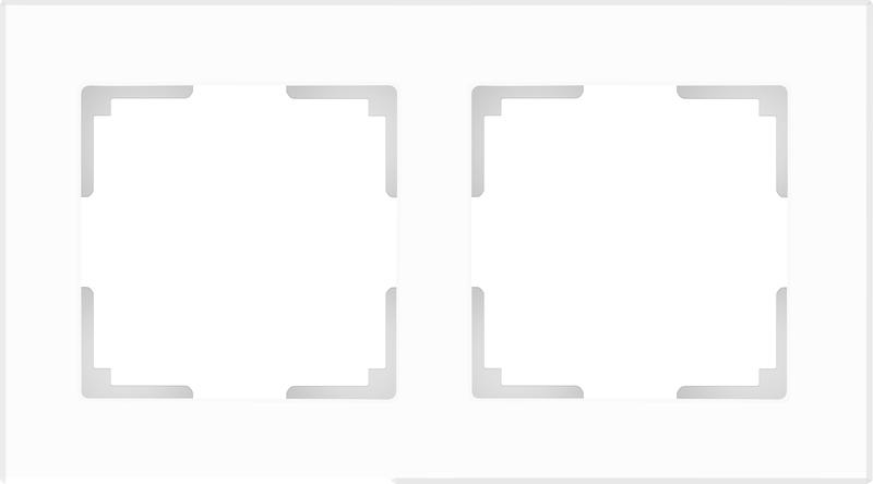 WL01-Frame-02/Рамка на 2 поста (белый матовый)