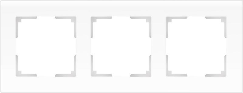 WL01-Frame-03/Рамка на 3 поста (белый матовый)