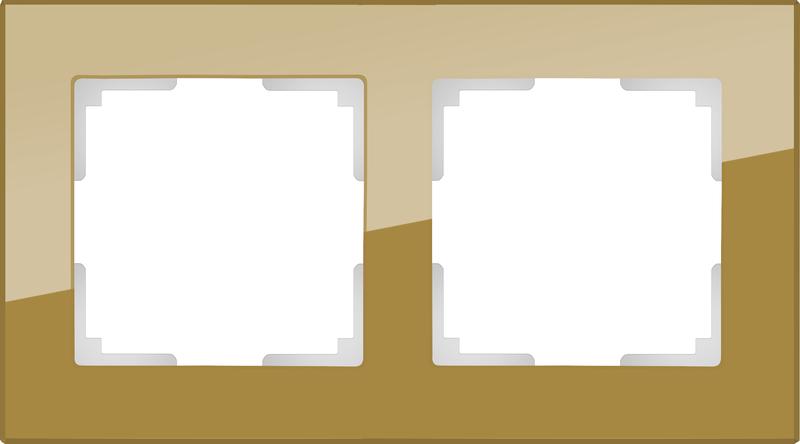 WL01-Frame-02/Рамка на 2 поста (бронзовый)